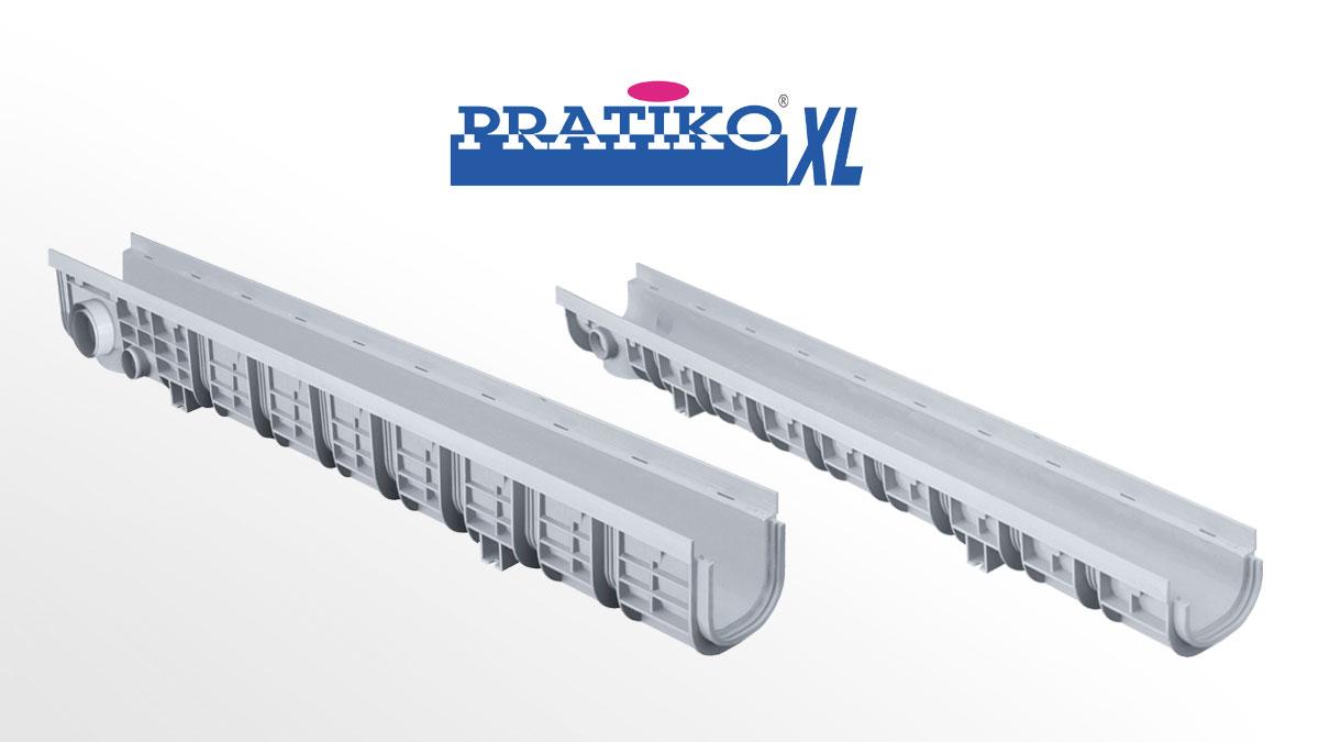 Canali Grigliati Modulari PRATIKO-XL in PP